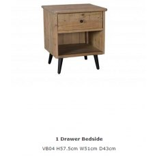 Baker Furniture Valetta 1 Drawer Bedside Chest