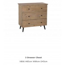Baker Furniture Valetta 3 Drawer Chest