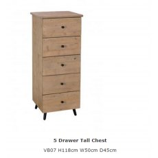 Baker Furniture Valetta 5 Drawer Tall Chest
