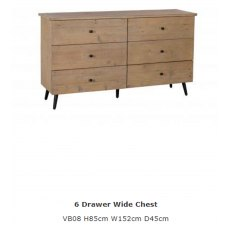 Baker Furniture Valetta 6 Drawer Wide Chest