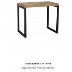 Baker Furniture Nixon Rectangular Bar Table