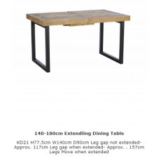 Baker Furniture Nixon 140 - 180cm Dining Table (Only Top Extends)