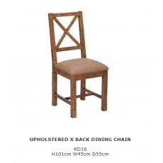 Baker Furniture Nixon Upholstered X Back Dining Chair