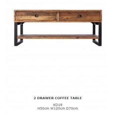 Baker Furniture Nixon 2 Drawer Coffee Table