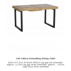 Baker Furniture Nixon 140 - 180cm Fully Extending Dining Table