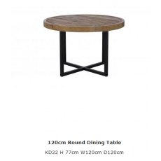 Baker Furniture Nixon 120cm Round Dining Table