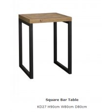 Baker Furniture Nixon Square Bar Table