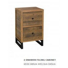 Baker Furniture Nixon 2 Drawer Filing Cabinet