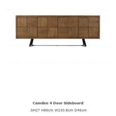 Baker Furniture Soho Camden 4 Door Sideboard