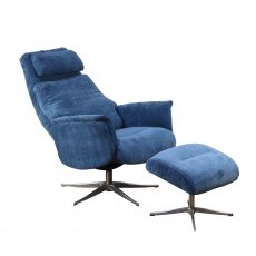 GFA Albury Swivel Recliner Chair And Footstool