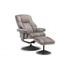 GFA Denver Swivel Recliner Chair And Footstool