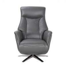 GFA Houston Swivel Recliner Chair With Integrated Footstool