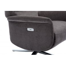 GFA Ontario Swivel Recliner Chair With Integrated Footstool