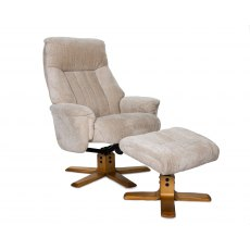GFA St Tropez Swivel Recliner And Footstool