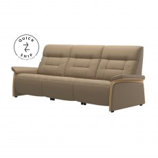 Stressless Quickship Mary 3 Seater With 3 Power Paloma Funghi/Oak Wood