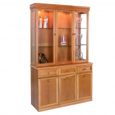 Sutcliffe Trafalgar 3 Door Display Unit with Mirrored Back