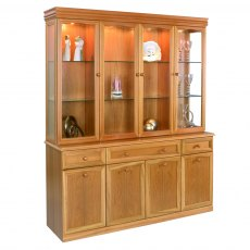 Sutcliffe Trafalgar 4 Door Display Unit With Mirrored Back