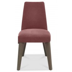 Bentley Design Cadell Aged Oak Upholstered Dining Chair