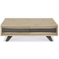 Bentley Designs Cadell Aged Oak Coffee Table With Drawers