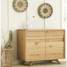 Bentley Designs Cadell Rustic Oak Narrow Sideboard