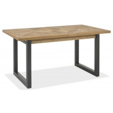Bentley Designs Indus Rustic Oak 4 - 6 Seater Extending Dining Table