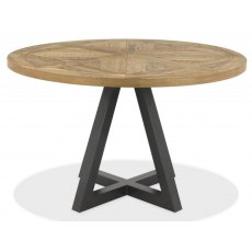Bentley Designs Indus Rustic Oak Circular Dining Table