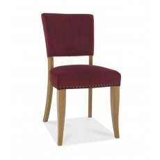 Bentley Designs Indus Rustic Oak Upholstered Dining Chair