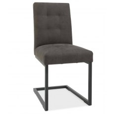 Bentley Designs Indus Rustic Oak Upholstered Cantilever Chair