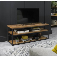 Bentley Designs Indus Rustic Oak Open Entertainment Unit