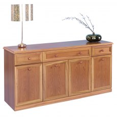 Sutcliffe Trafalgar Sideboard 4 Door 3 Drawer Canted Top