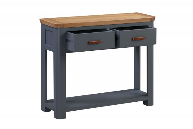 Annaghmore Annaghmore Treviso Midnight Blue Large Console Table With Drawers