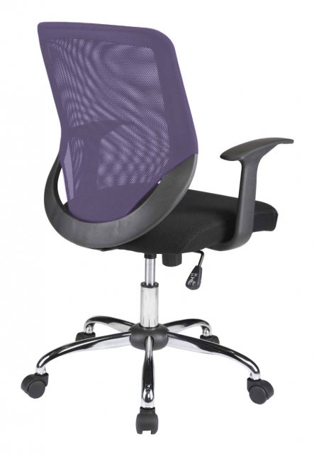 Alphason Alphason Office Chairs Atlanta Purple Mesh Back Operator Chair