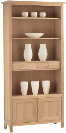 Corndell Corndell Nimbus Large Bookcase With Cupboard and Drawers