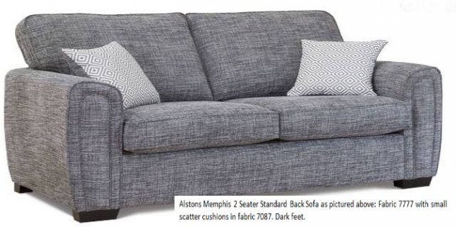 Excellent Alstons Memphis 2 Seater Standard Sofa Squirreltailoven Fun Painted Chair Ideas Images Squirreltailovenorg