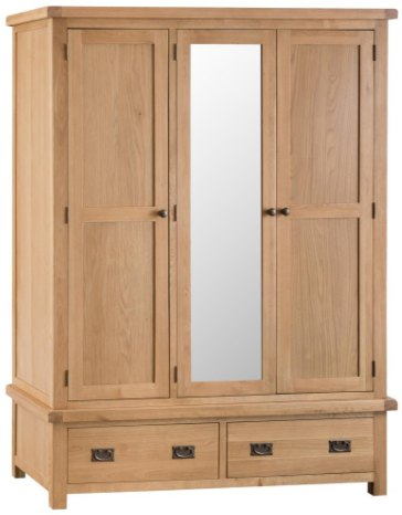 Hafren Collection Hafren Collection KCO: Bedroom 3 Drawer Wardrobe with Mirror