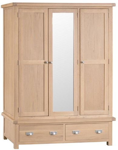Hafren Collection Hafren Collection KLO: Bedroom 3 Door Wardrobe With Mirror