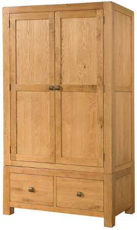 Devonshire Living Devonshire Living: Avon Double Wardrobe With 2 Drawers