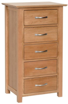 Devonshire Living Devonshire Living: New Oak: 5 Drawer Wellington