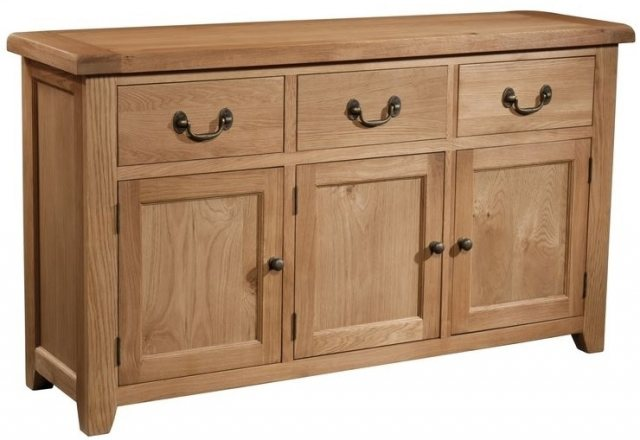 Devonshire Living Devonshire Living: Somerset Oak: 3 Door 3 Drawer