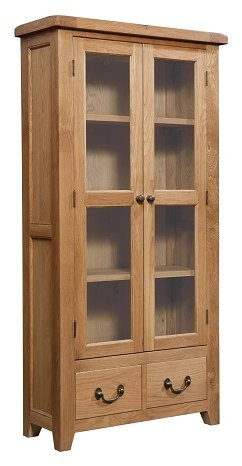 Devonshire Living Devonshire Living: Somerset Oak: Display Cabinet