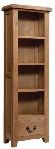 Devonshire Living Devonshire Living: Somerset Oak: Narrow Bookcase