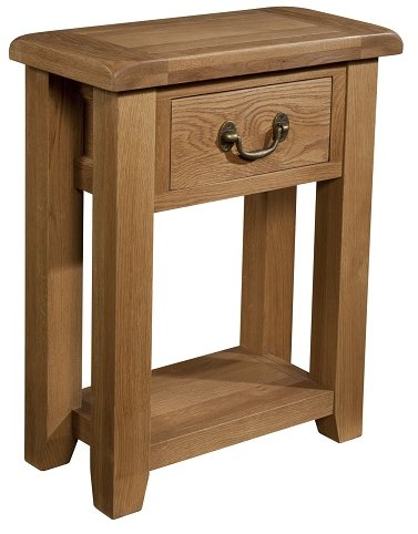 Devonshire Living Devonshire Living: Somerset Oak: 1 Drawer Console Table