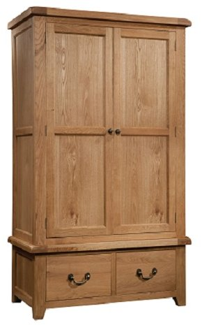 Devonshire Living Devonshire Living: Somerset Oak: Double Wardrobe 2 Drawers