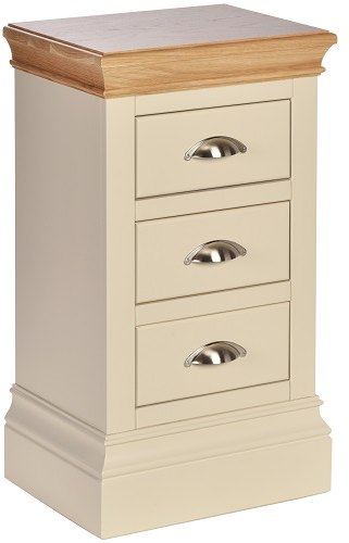 Devonshire Living Devonshire Living: Lundy Painted Compact 3 Drawer Bedside