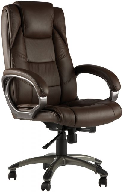Alphason Alphason Office Chairs Northland Brown High Back Soft Feel Leather Executive Chair