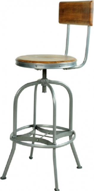 Bluebone Bluebone Re-Engineered Bar Stool With Back Rest
