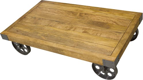 Strange Bluebone Re Engineered Coffee Table With Wheels Interior Design Ideas Tzicisoteloinfo