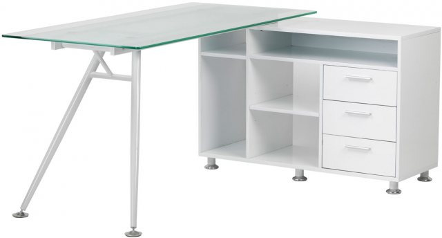 Alphason Alphason Desks Augusta Glass Work Centre