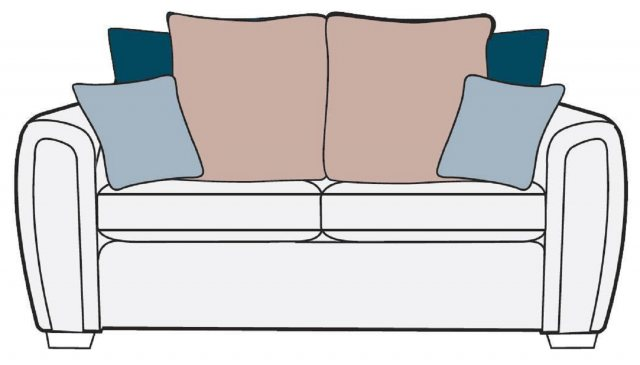 Alstons Alstons Memphis 3 Seater Pillow Back Sofa Bed