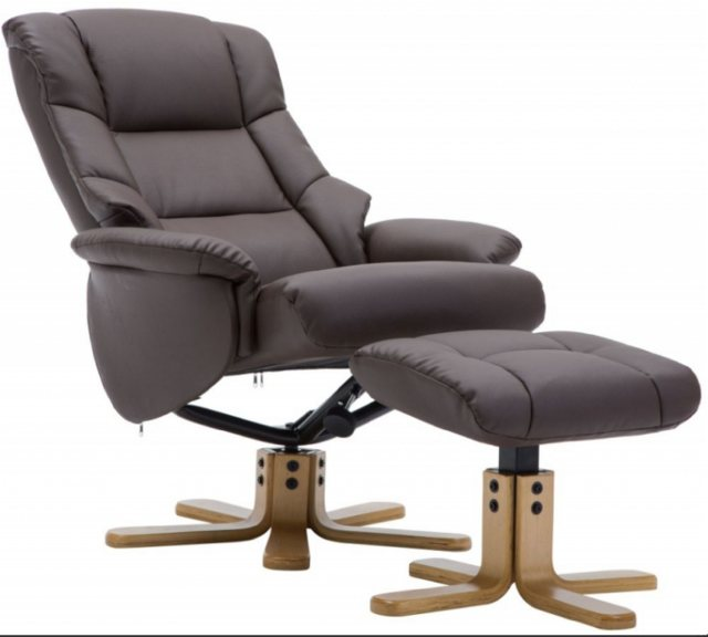 GFA Florence Swivel Recliner And Footstool